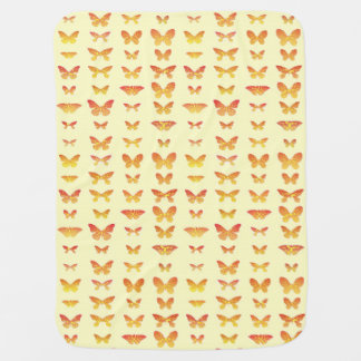 Butterflies, yellow, gold and orange baby blankets