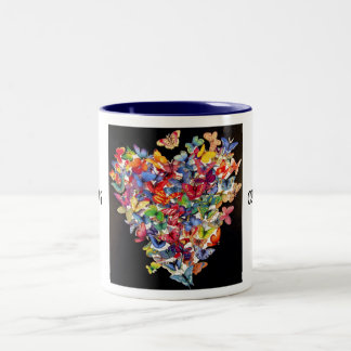 butterfly047, CURE LUPUS, CURE LUPUS Two-Tone Coffee Mug