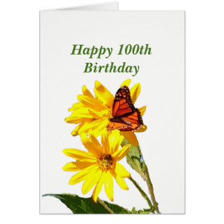 Butterfly 100th Birthday Card