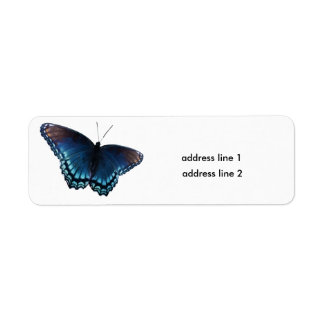 butterfly 16 return address label