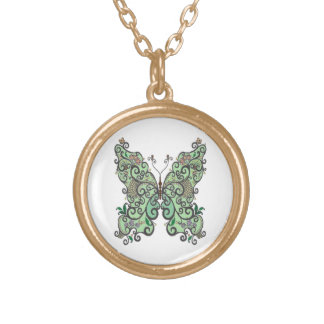Butterfly 1 gold plated necklace