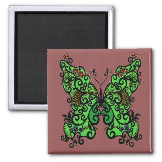 Butterfly 1 square magnet