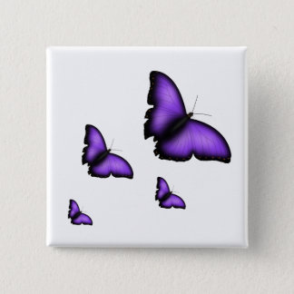 Butterfly 2 Inch Square Button