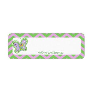 Butterfly 2nd Birthday Scrapbook Embellishment 3 Return Address Label