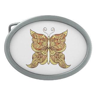 Butterfly 5 oval belt buckle