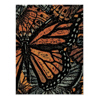 Butterfly abstract art poster