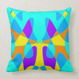 Butterfly Abstract Design Artwork Throw Pillow