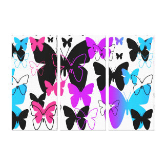 Butterfly Abstract Pattern Multicolored Rainbow Canvas Print