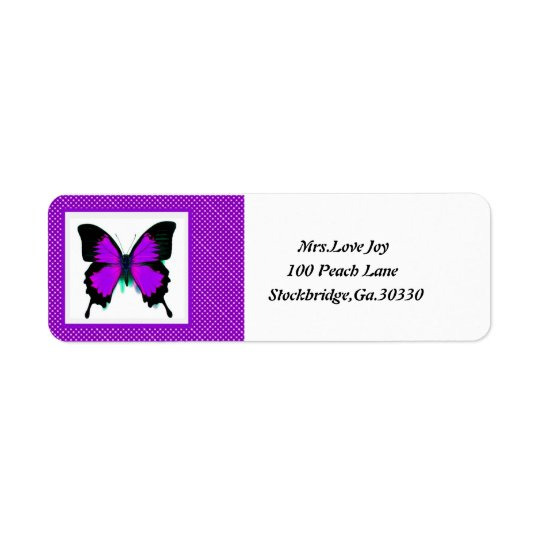 Butterfly Address Lables