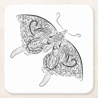 butterfly- Adult Colouring Coaster
