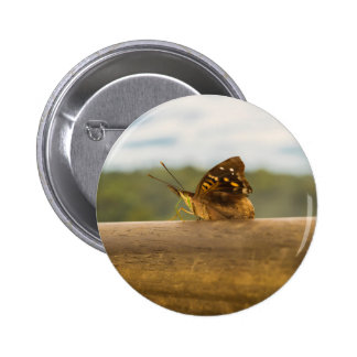 Butterfly against Blur Background at Iguazu Park 2 Inch Round Button