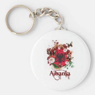 Butterfly Albania Basic Round Button Keychain