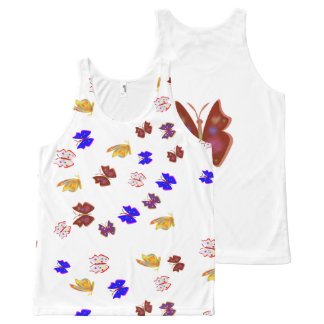Butterfly All-Over-Print Tank Top