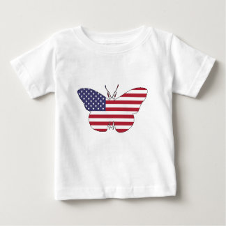 """Butterfly """"American Flag"""" Baby T-Shirt"""