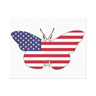 """Butterfly """"American Flag"""" Canvas Print"""