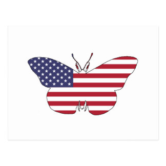 """Butterfly """"American Flag"""" Postcard"""