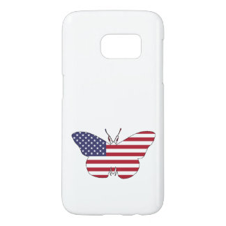 "Butterfly ""American Flag"" Samsung Galaxy S7 Case"