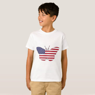 """Butterfly """"American Flag"""" T-Shirt"""