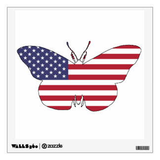 "Butterfly ""American Flag"" Wall Sticker"