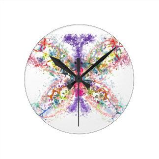 Butterfly Anatomy Round Clock