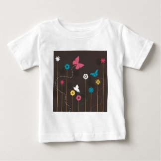 Butterfly and a flower3 baby T-Shirt