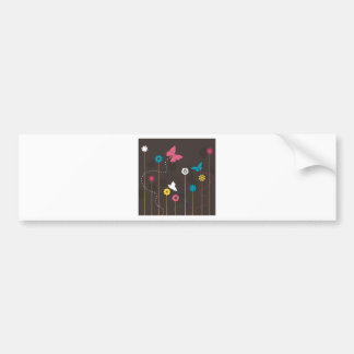 Butterfly and a flower3 bumper sticker