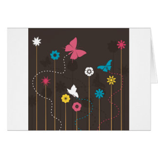 Butterfly and a flower3 card