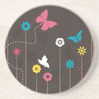Butterfly and a flower3 coaster