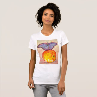 Butterfly and Apple be free T-Shirt