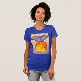 Butterfly and Apple free to fly T-Shirt