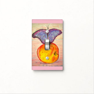 Butterfly and Apple Light Switch Cover