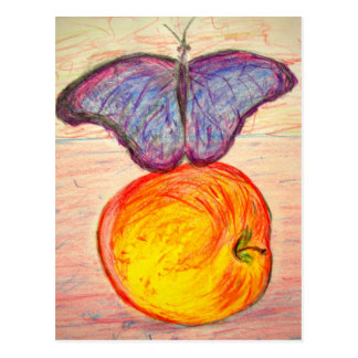 Butterfly and Apple Postcard