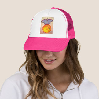 Butterfly and Apple Trucker Hat
