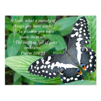 Butterfly and Bible Verse Postcard