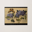 Butterfly and Dahlias', unknown artist_The Orient Jigsaw Puzzle