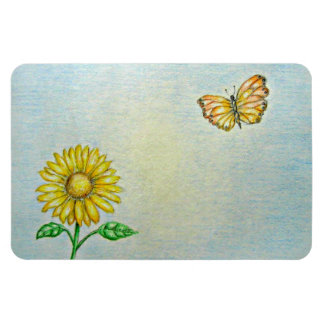 butterfly and daisy magnet