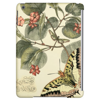 Butterfly and Dragonfly with Red Flowers iPad Air Covers