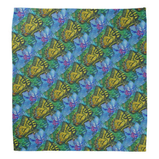 Butterfly and Floral Pattern Bandanna