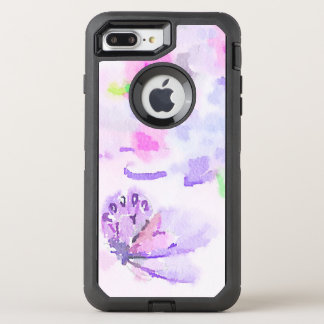 Butterfly and Floral Watercolor OtterBox Defender iPhone 7 Plus Case