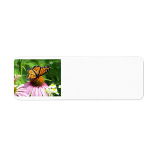 Butterfly and Flower Return Address Label