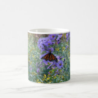 Butterfly and Flowers Coffee Mug
