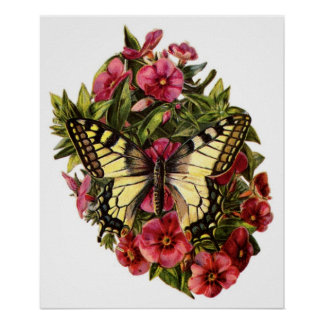 Butterfly and Flowers Customizable Poster
