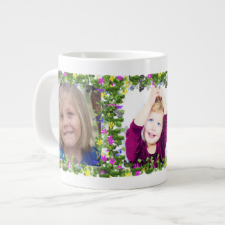 Butterfly and Flowers Frames for Three Large Coffee Mug