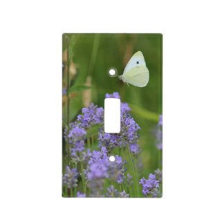 Butterfly and Flowers Light Switch Cover