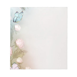 Butterfly and flowers notepad