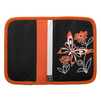 Butterfly and Flowers Orange and Black Planners