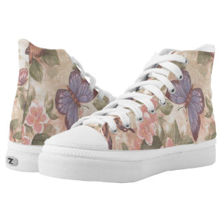 Butterfly And Flowers Shoes