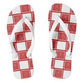Butterfly and Heart Flip Flops