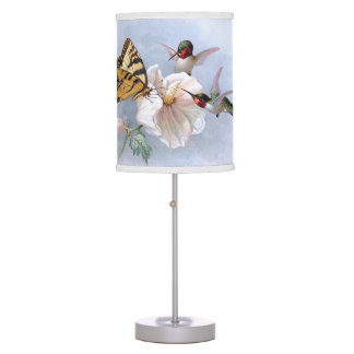 Butterfly and Hummingbirds Table Lamp