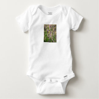Butterfly and Lavender Baby Onesie
